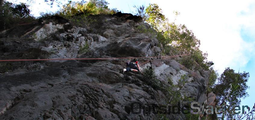 Sagada rock climber