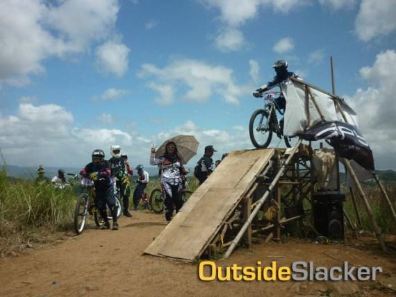 The downhill race starting ramp