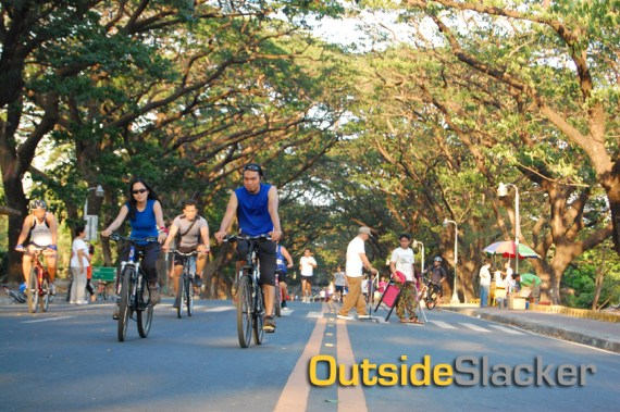 Bikers in UP Diliman