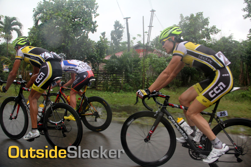 Le Tour de Filipinas 2013 riders brave the rain