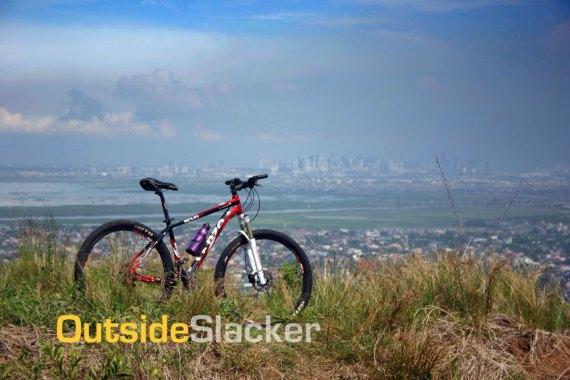 Bike overlooking Metro Manila