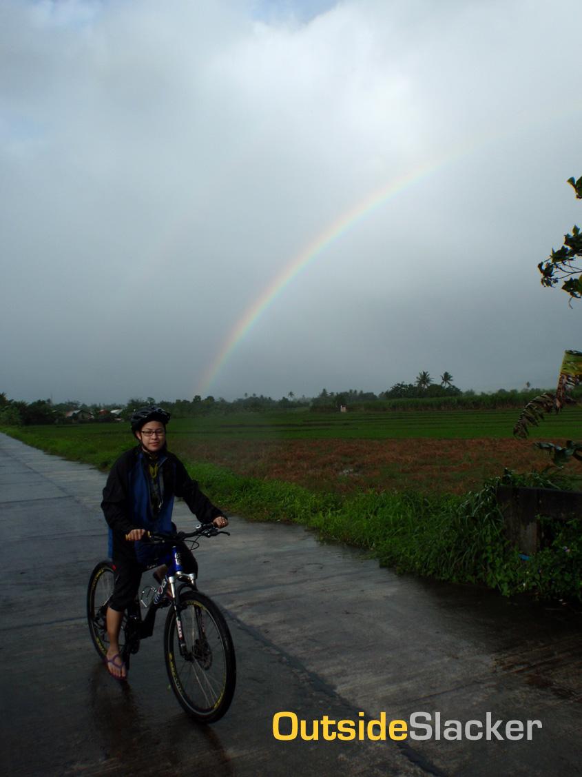Biker and Rainbow