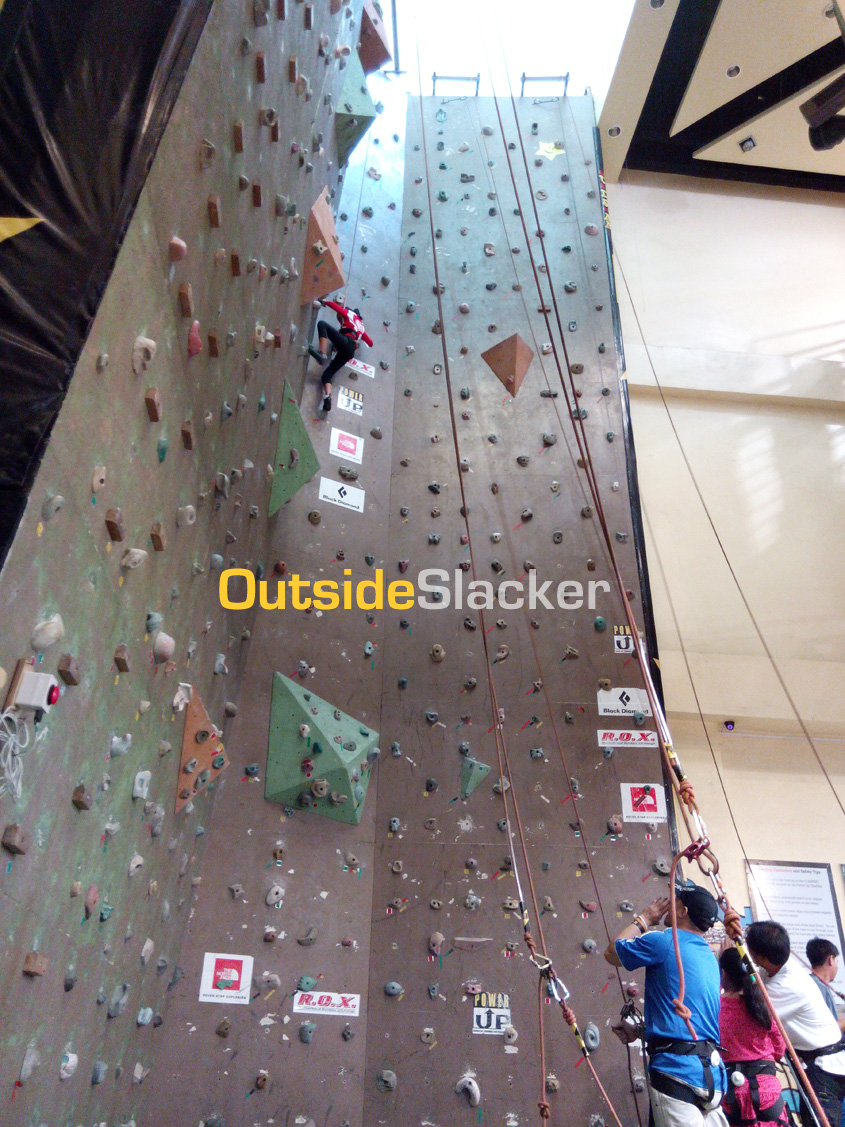 The gym has five 40-foot high walls