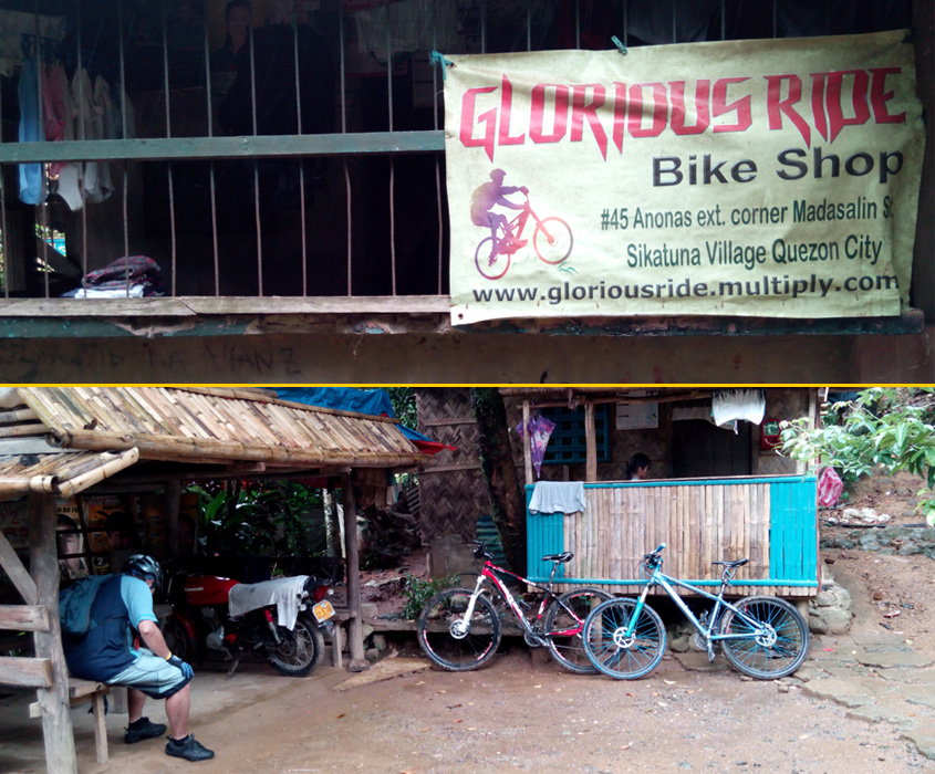 Place to park your bike before hiking to Puray Falls