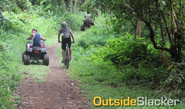 Biking in Mt. Isarog