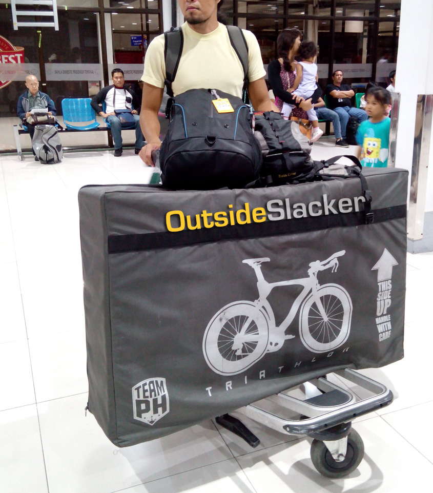 Bike packed at airport
