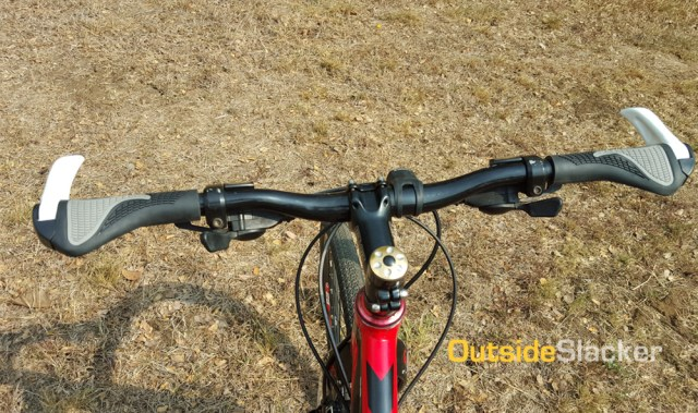 Knockoff Ergon grips on a 640mm bar