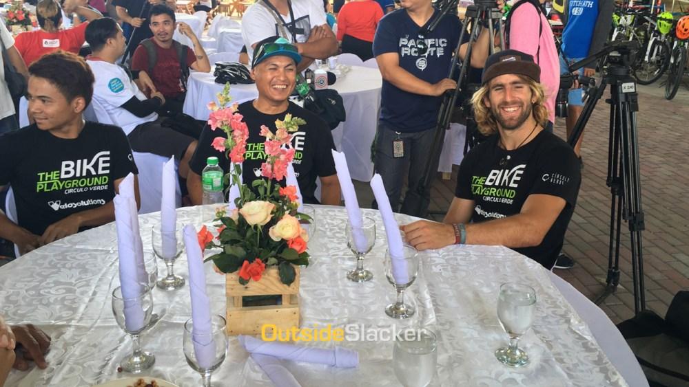 Adrien Loron with Bans Mendoza