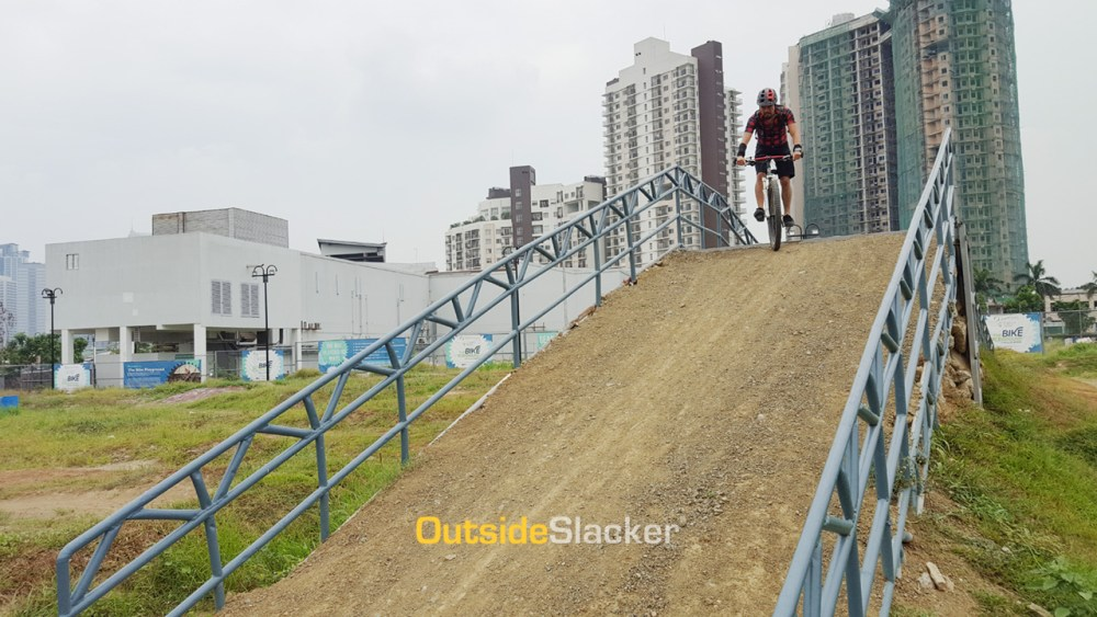 The outdoor dirt track of The Bike Playground