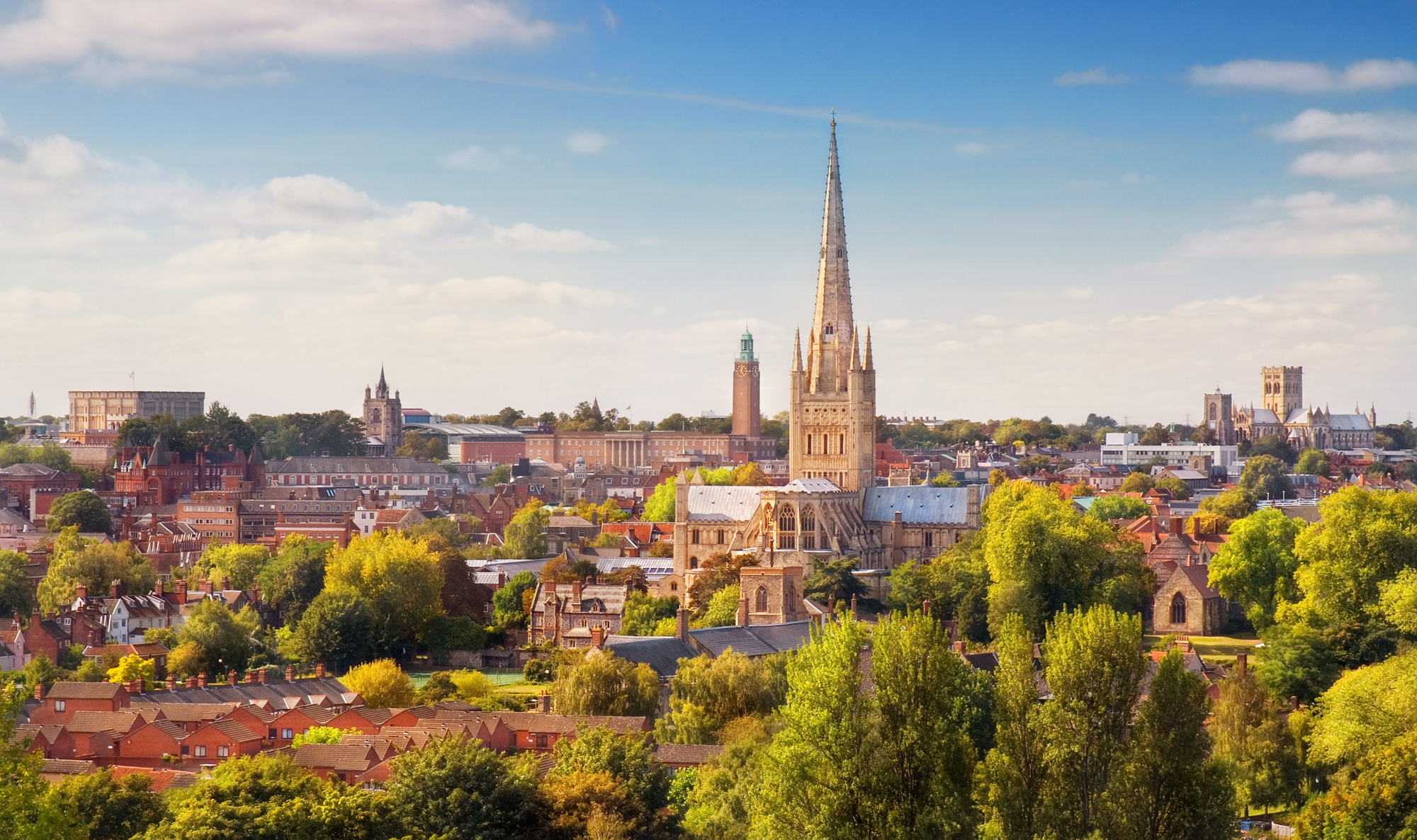 Norwich city skyline