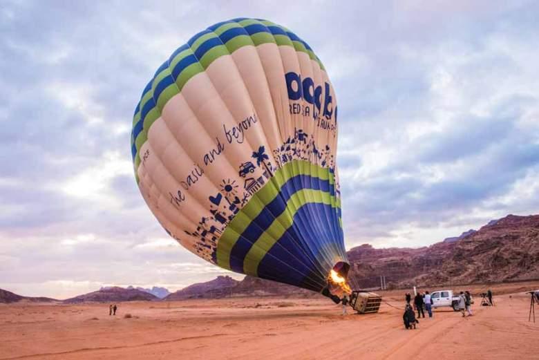 Hot Air Balloon Flight at Wadi Rum