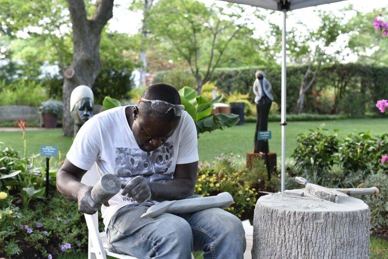 ZimSculpt : Modern Zimbabwean stone sculpture exhibition at the Dallas Arboretum