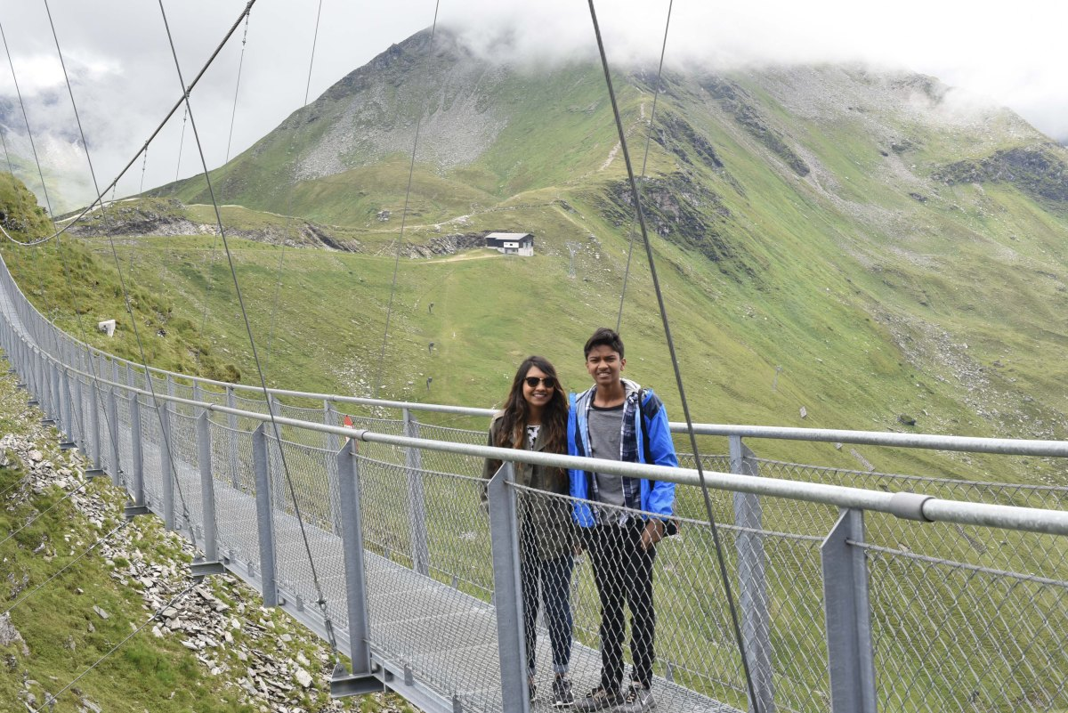 Stubnerkogel : Walking on the highest suspension bridge in Austria
