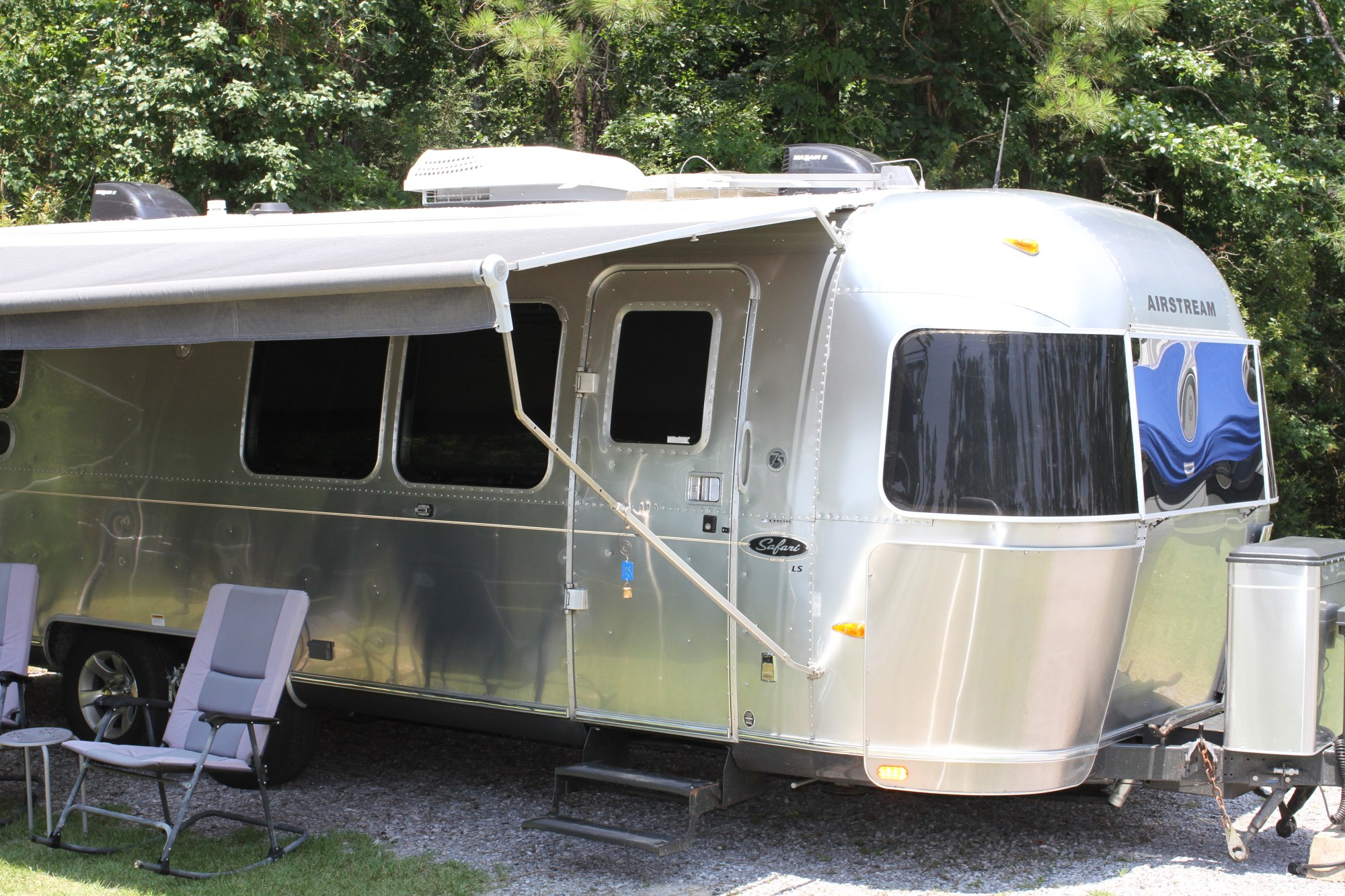 hight resolution of an airstream travel trailer setup for camping fun