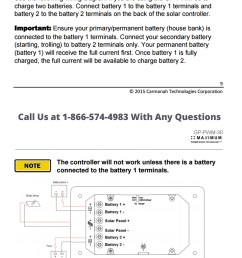 instructions for charge controller from go power for dual battery bank operation  [ 1200 x 1477 Pixel ]