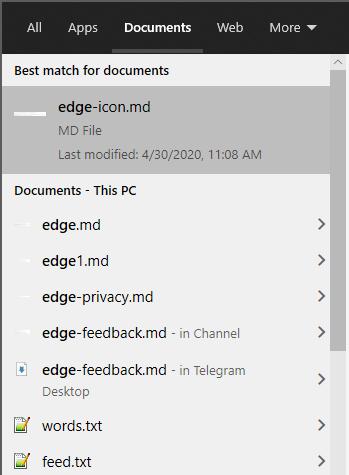 Отключение веб-запросов в Пуск