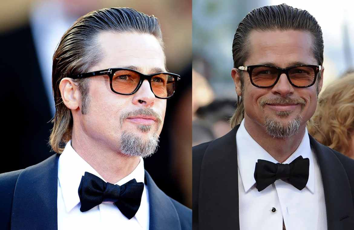 Brad Pitt's Long Slicked Back Haircut - 9 amazing Men's Hairstyles for Thinning Hair