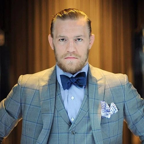 Conor McGregor sicked back hair style