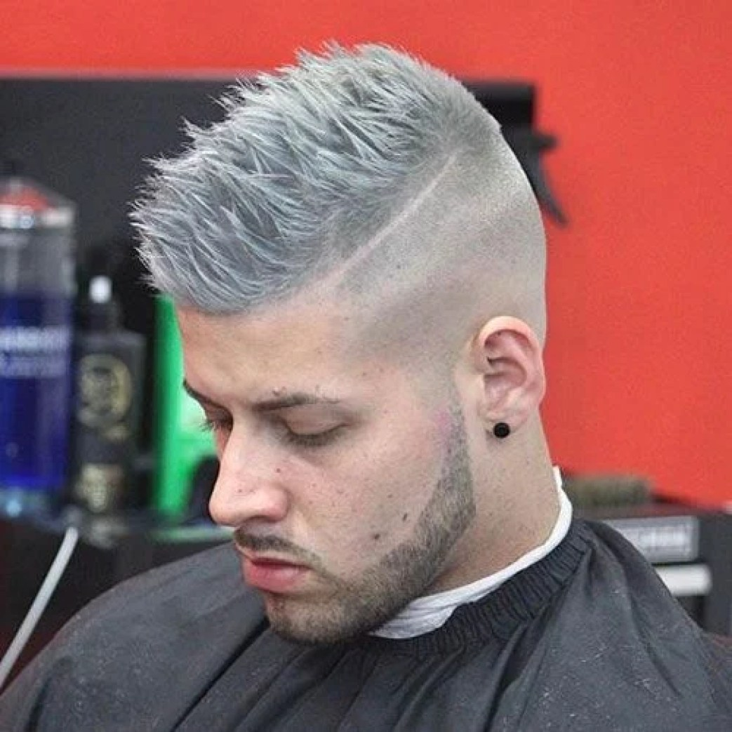 Grey Hair Short Back & Sides with Fade