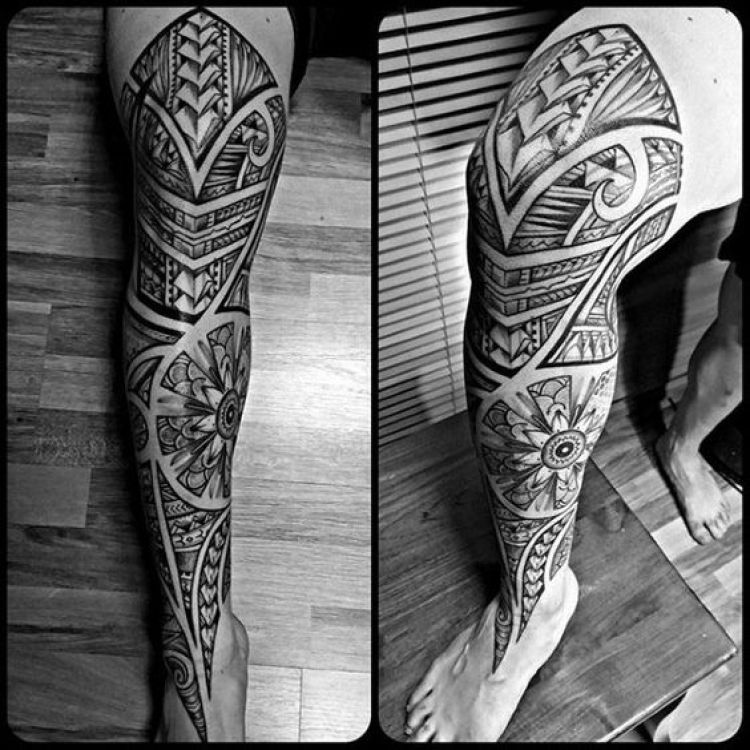 Traditional Tribal Leg Design