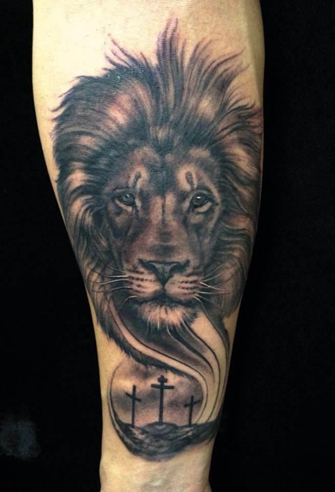 Amazing Lion Arm Tattoo