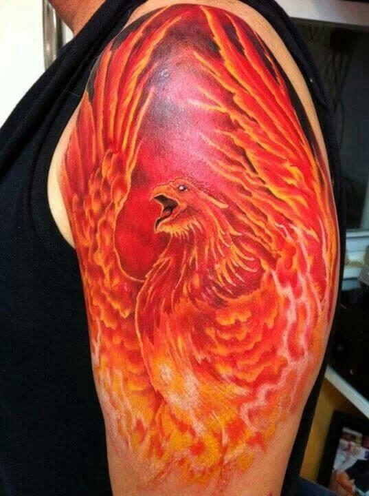 Red Phoenix Tattoo