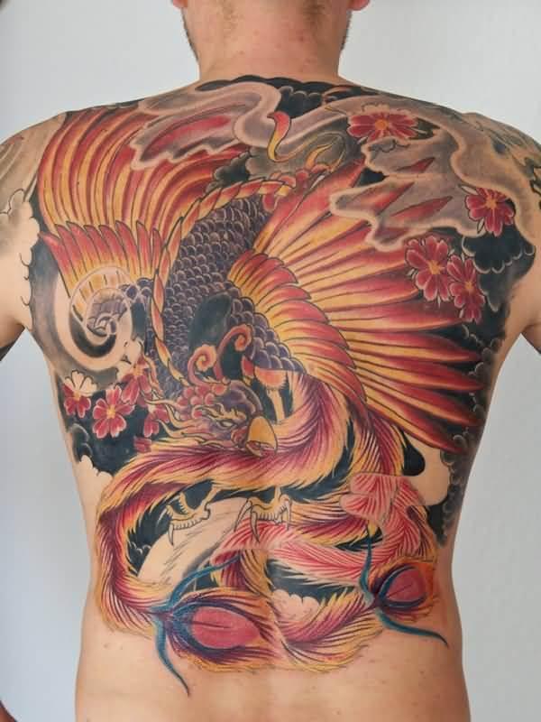 Phoenix Back Tattoo