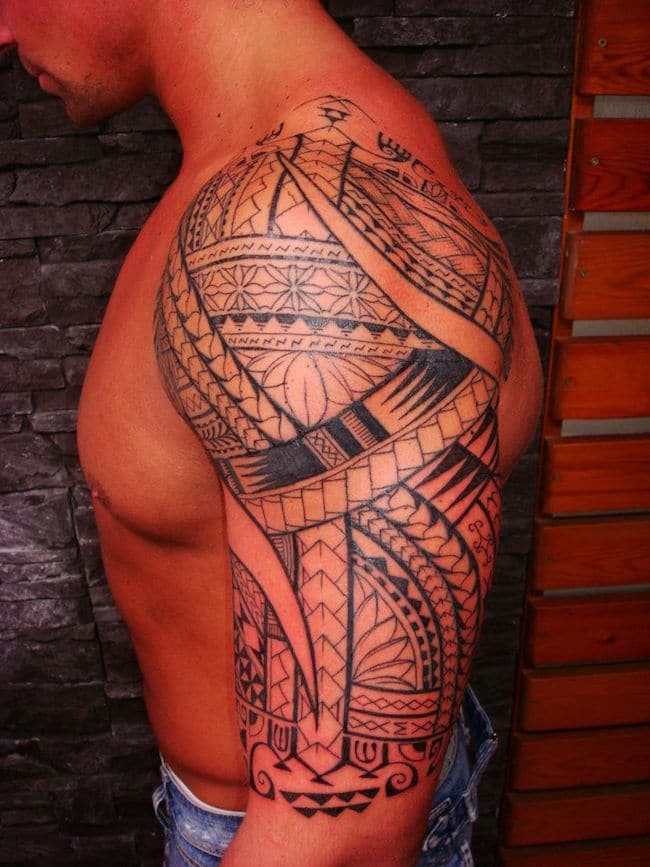 Maori Style Half Sleeve