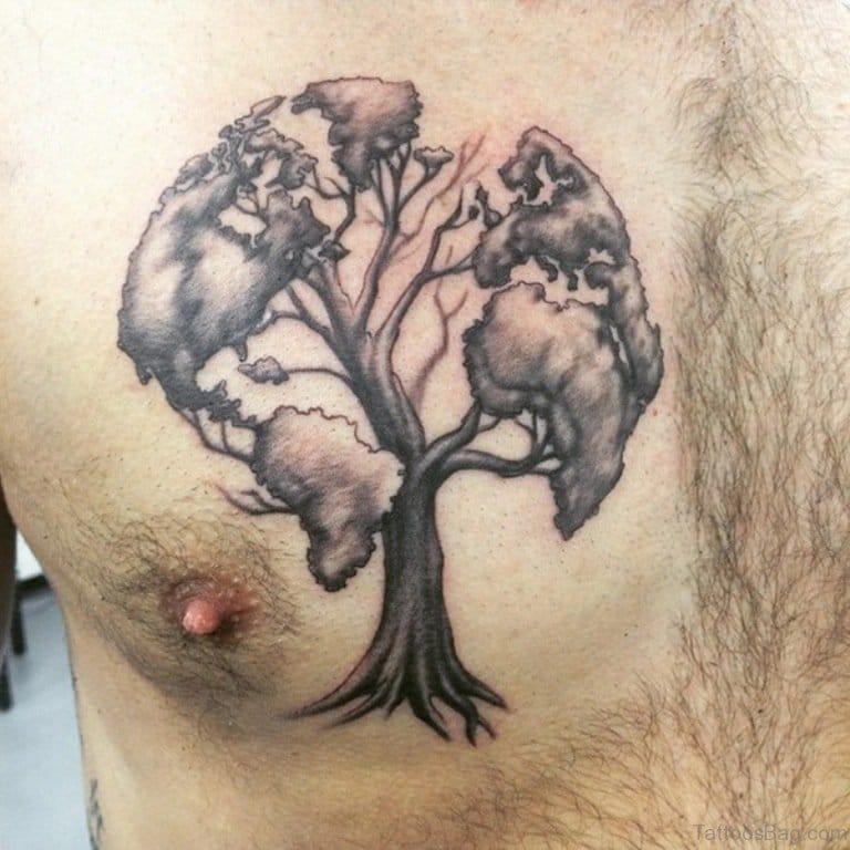 Globe Tree Tattoo