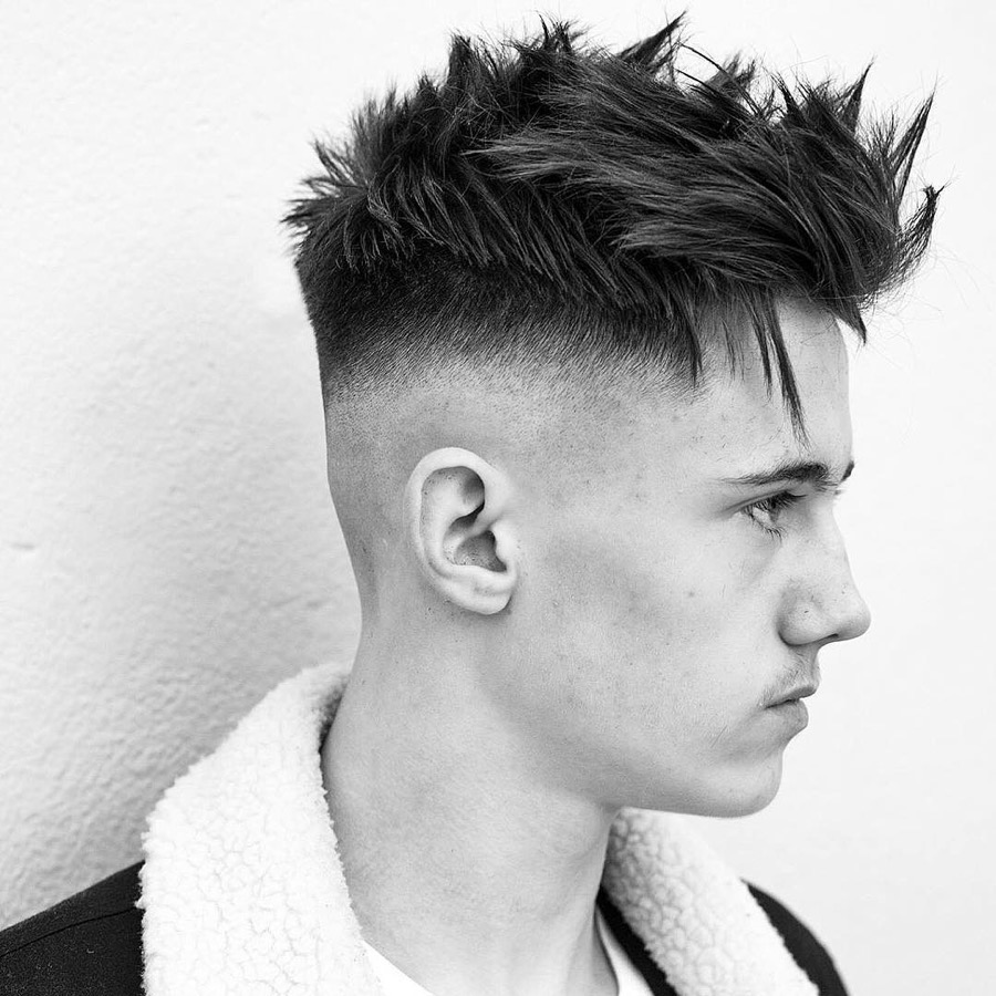 High Skin Fade Spiky Textured