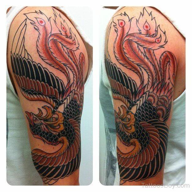 Japanese Phoenix Arm Tattoo Design