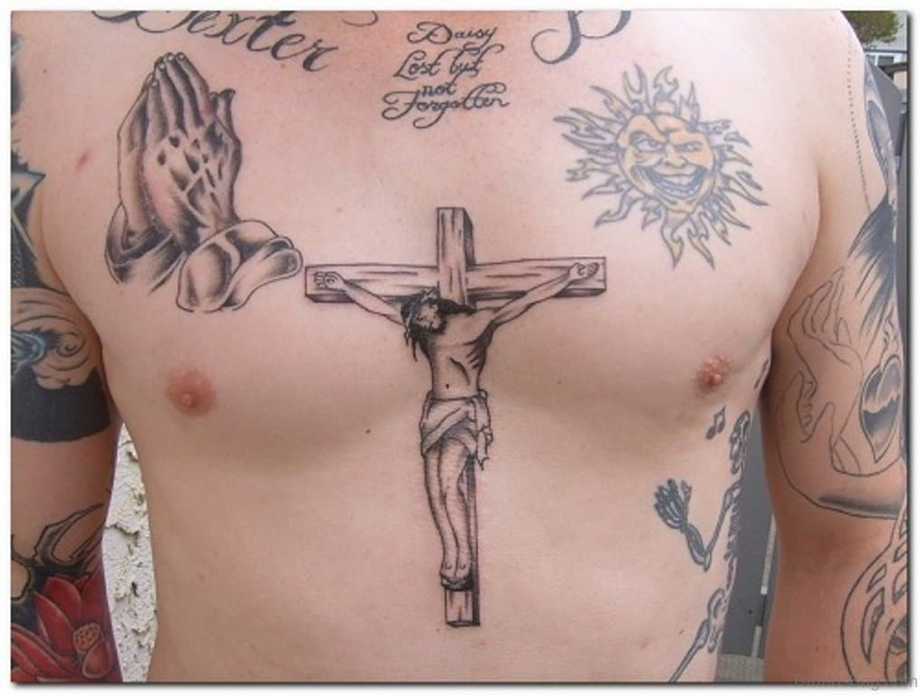 Jesus On A Cross Tattoo