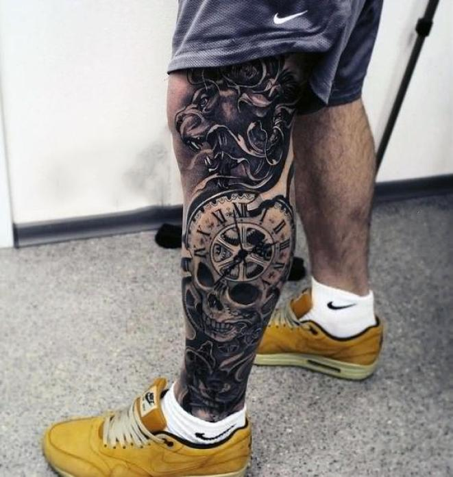 Amazing Mens Lion With Skull