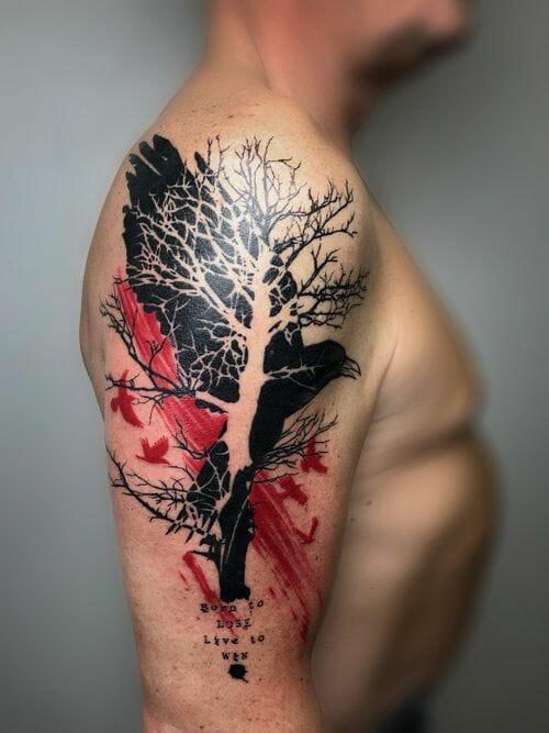 Red Tree Tattoo