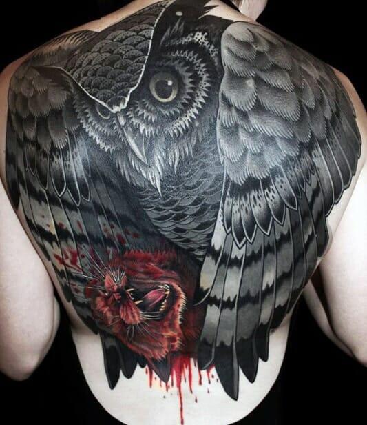Black Owl Tattoo