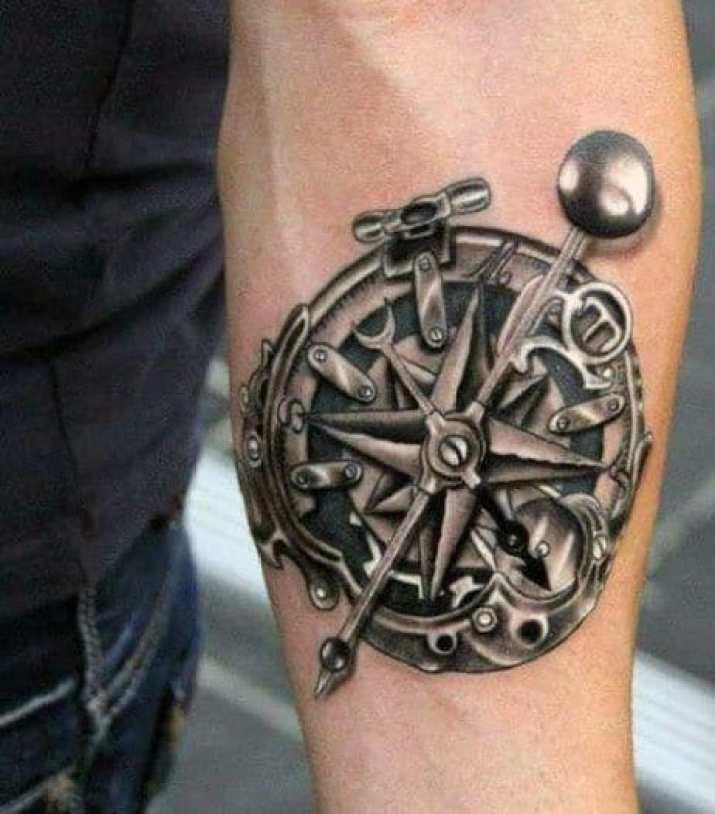 compass rose arm tattoo