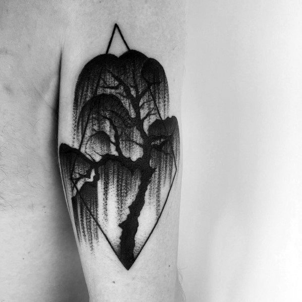 Willow Tree Forearm Tattoo
