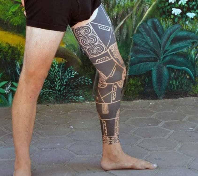 Full Tribal Leg Sleeve