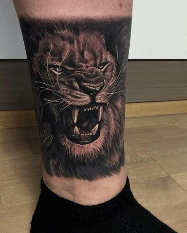 Chinese Lion Tattoo