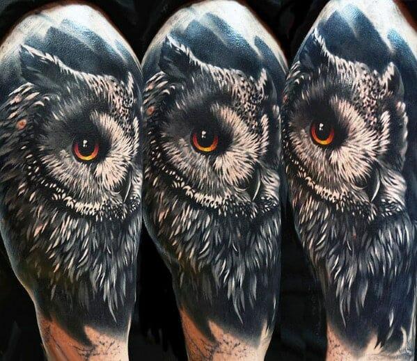 Guys Owl Tattoo