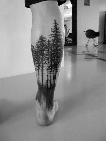 Incredible Tree Leg Tattoo