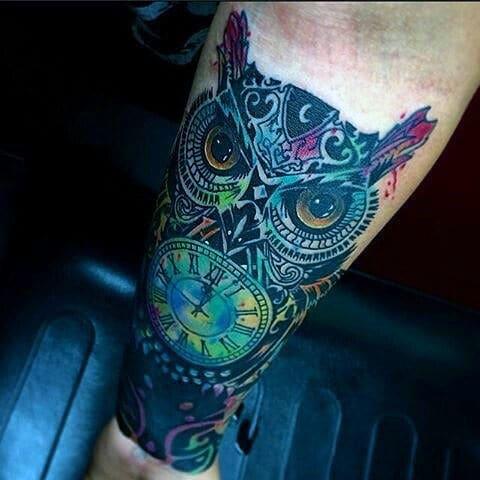 Mens Owl Tattoo