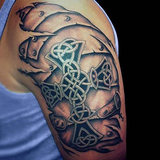 Antic Cross Tattoo