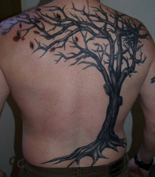 Falling Leaves Tattoo