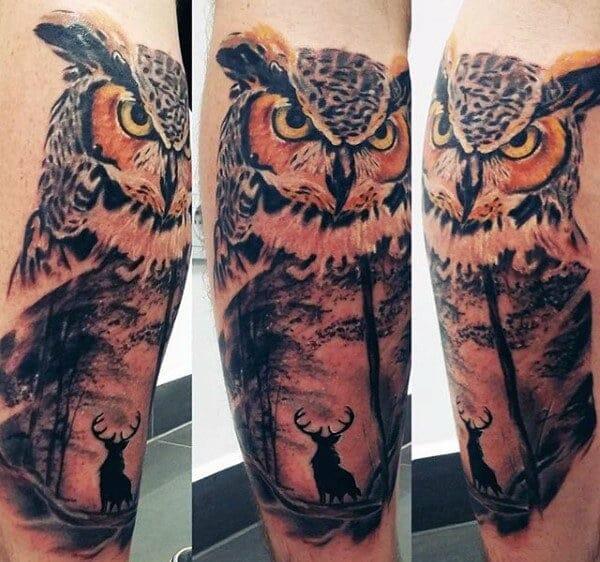 Night Owl Tattoo Design