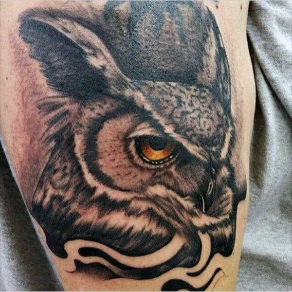 Owl Arm Tattoo For Men