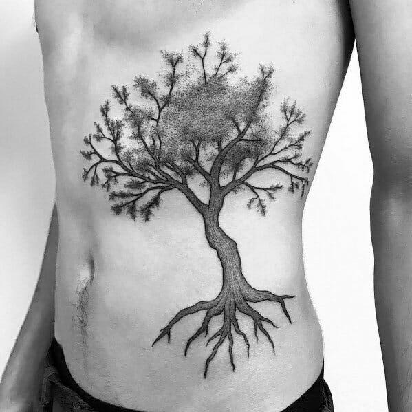 Tree Rib Tattoo
