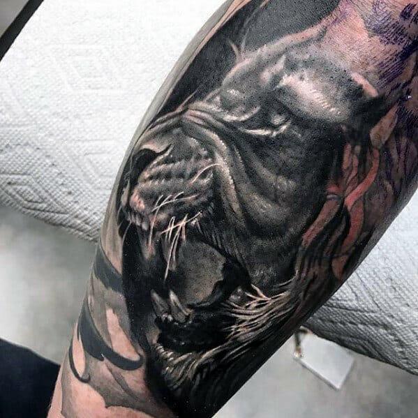 Roaring Lion Mens Tattoo