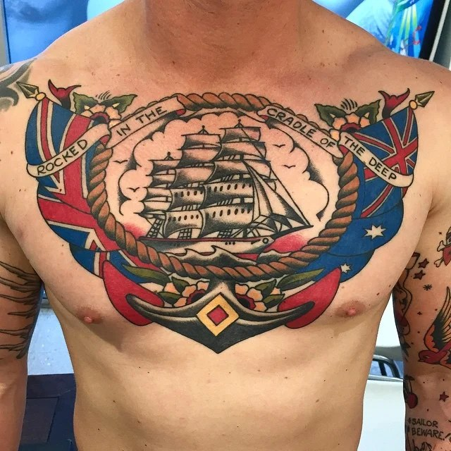 Sailor Jerry UK Chest Tattoo