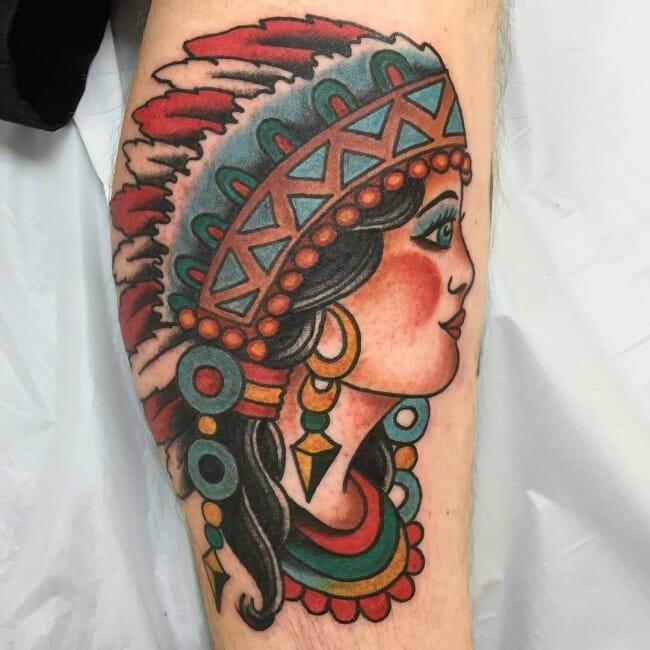 Old School Arm Tattoo